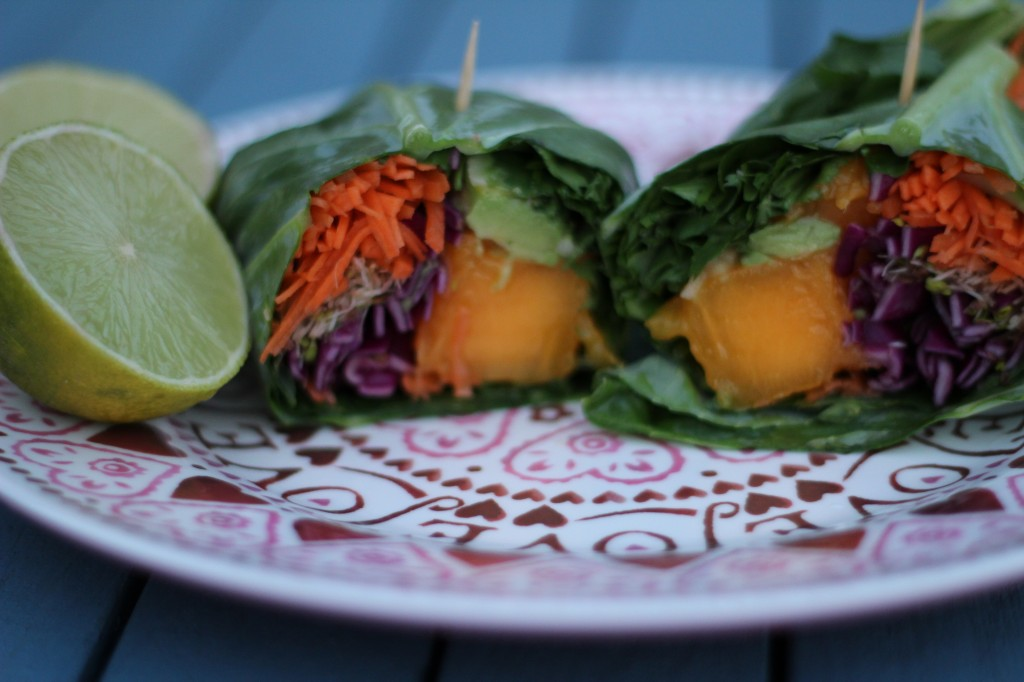 Aimie's raw mango wraps