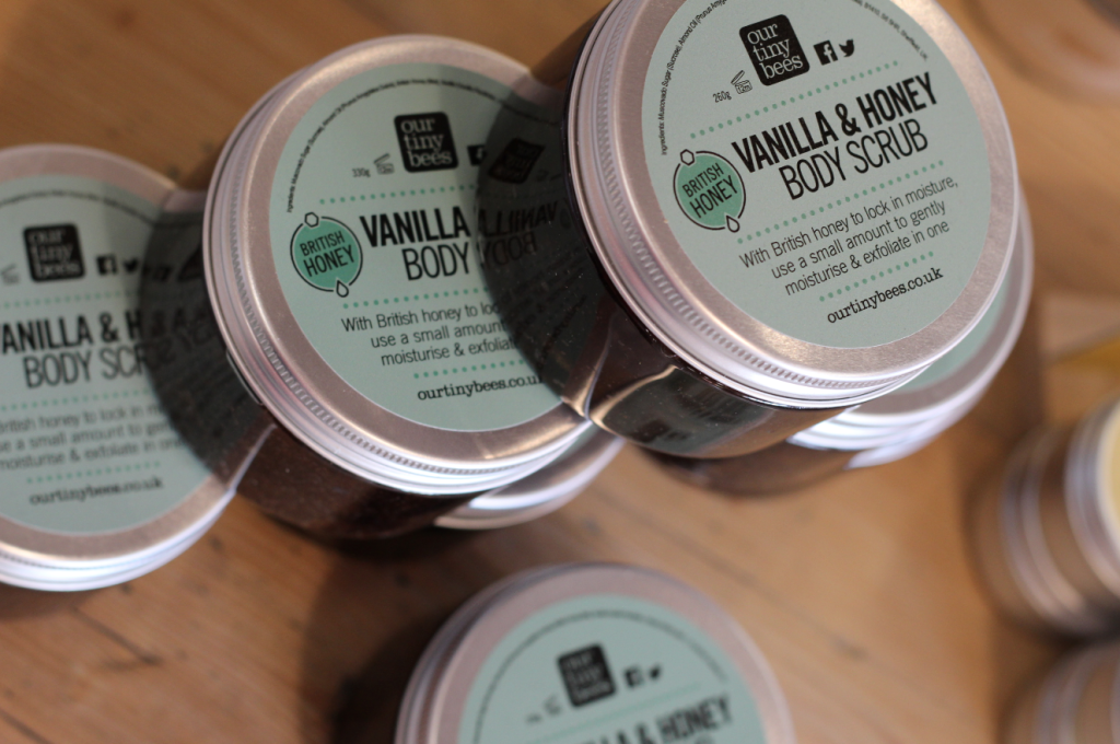 our tiny bees body scrub